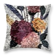 Flowers In Winter Throw Pillow