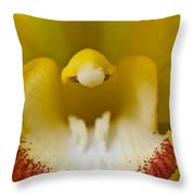 Flower's Mouth Throw Pillow