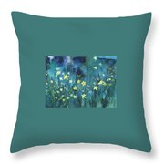 Flowers N Breeze Throw Pillow