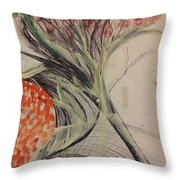 Flowers No 2 Throw Pillow by Gregory Dallum