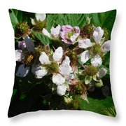 Flowers Of Berries Throw Pillow