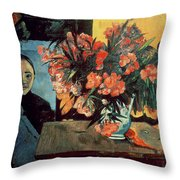 Flowers Of France Throw Pillow