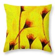 Flowers Of Love  - Van Gogh -  - Pa Throw Pillow
