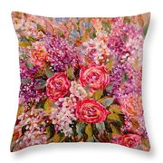 Flowers Of Romance Throw Pillow