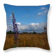 Flowers Of Leaving Summer Throw Pillow
