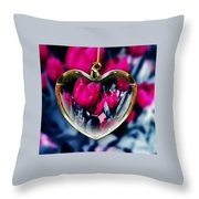Flowers Of The Heart Throw Pillow