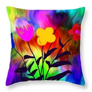 Flowers Of The I-magi-nation Throw Pillow