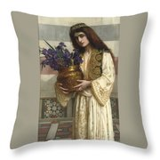 Flowers Of The Levant  Throw Pillow