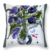 Flowers Of The Mind Throw Pillow