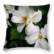 Flowers Of The Moon Throw Pillow