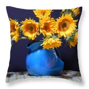 Flowers Of The Sun Throw Pillow