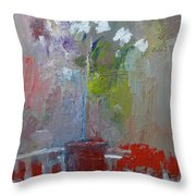Flowers On A Table Throw Pillow