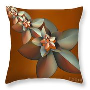 Flowers On Bronze Throw Pillow