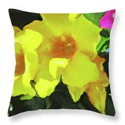 Flowers On Deck Throw Pillow