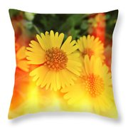 Flowers On Fire Throw Pillow