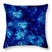 Flowers On Tiles Throw Pillow