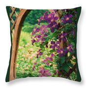 Flowers On Vine  Throw Pillow