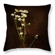 Flowers On Wood Throw Pillow