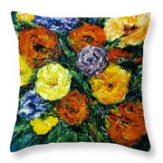 Flowers Painting #191 Throw Pillow