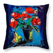 Flowers Roses Throw Pillow