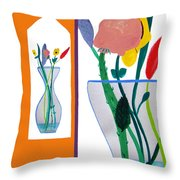 Flowers Small And Big Throw Pillow