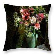 Flowers Still Life Throw Pillow