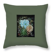 Flowers Surreal Throw Pillow