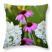 Flowers That Contrast Throw Pillow
