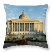 Flowers To The Capital Throw Pillow