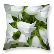 Flowers With Droplets 1 Throw Pillow