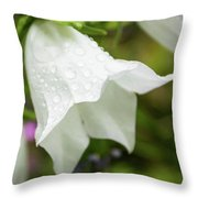 Flowers With Droplets 3 Throw Pillow