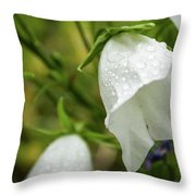 Flowers With Droplets 4 Throw Pillow