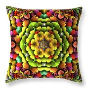 Flowerscales 62 Throw Pillow
