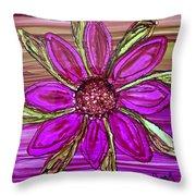 Flowerscape Dahlia Throw Pillow