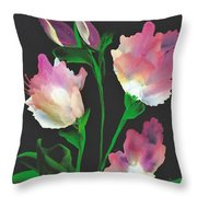 Flowerscape Glow Of Night Throw Pillow