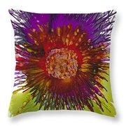 Flowerscape Thistle Throw Pillow