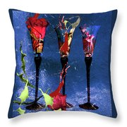 Flowery Cocktails Throw Pillow by M Montoya Alicea