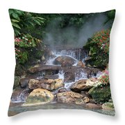 Flowery Falls At Disney Throw Pillow