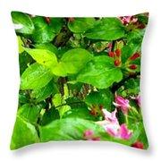Flowery Flope Throw Pillow