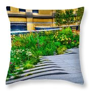 Flowery Garden On The High Line Throw Pillow