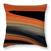 Flowing Amber Throw Pillow