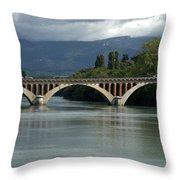 Flowing Bridge Throw Pillow