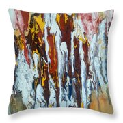 Flowing Colors Throw Pillow