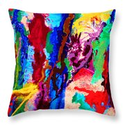 Flowing Contrasts Throw Pillow