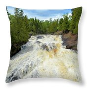 Flowing East Throw Pillow