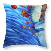 Flowing Fall Throw Pillow