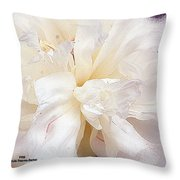 Flowing Floral Throw Pillow