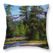 Flowing Free Throw Pillow