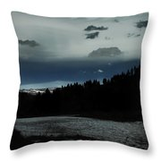 Flowing Into The Night Throw Pillow
