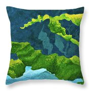 Flowing Kelp Throw Pillow